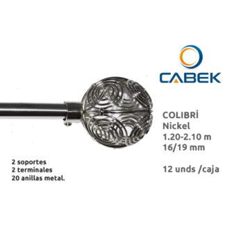B. FORJA CABEK 16/19MM 120-210CM COLIBRI NICKEL