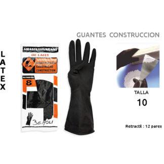 GUANTE CONSTRUCCION BEHOLI LATEX NEGRO T-10
