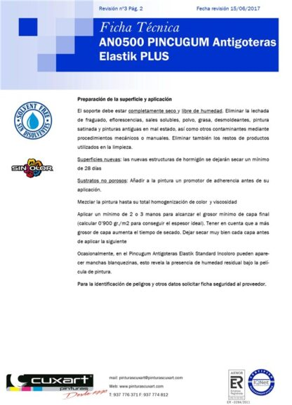 PINTURA ANTIGOTERAS 4L ROJO PINCUGUM