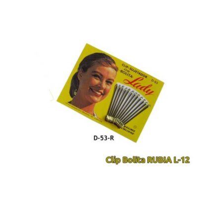 CLIP C/BOLITA LADY 5CM D53R RUBIO L-12
