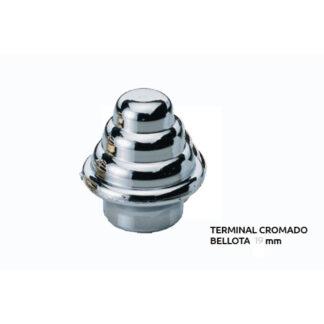 TU. TERMINAL CROMADO BELLOTA 19 mm